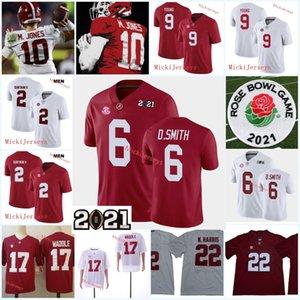 Mens Alabama Crimson Tide Bryce Young Football Jersey 2 Patrick Surtain II Najee Harris Jeylen Waddle Mac Jones Devonta Smith Alabama Jersey