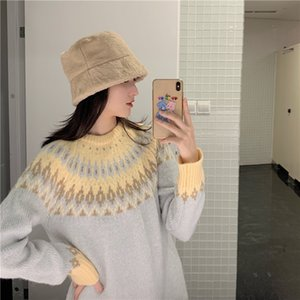 2020 Knitted Fashion Women Spring O-Neck Long Sleeve Pullover Women Sweater Female Knitted Sweater Pull Femme