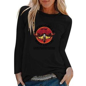 04Women's womens designer Tops Tees Clothing Patrick's Day leaf letter print women's Cotton long Sleeve T-Shirt fluores autumn winter girls