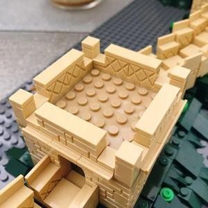 1517pcs Dünya Mirası Çin Seddi Yapı Taşları Ünlü Tarihsel Mimari Yapı Oyuncak For Children jllKQj Montajlı