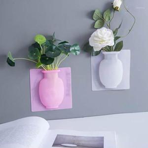 Florero pegajoso de silicona Easy Fridge Fridge Fridge Magic Flower Plant Joses DIY Decoración del hogar Accesorios Bouquet Storage Decor1