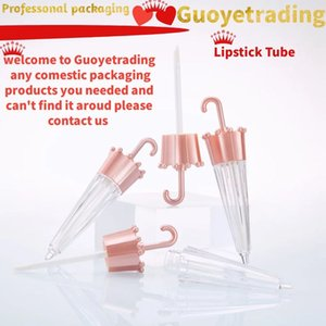 lip gloss tube lipstick tube Lip glaze tubes 5ml rose gold pink umbrella cute empty bottle sub-bottle professonal comestics packaging bottle