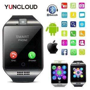 2020 New Q18S Montre Homme TF carte SIM support Bluetooth Horloge SmartWatch Musique Smart Camera Montres pour IOS Android Phone