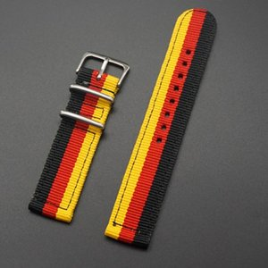Bracelet Most Watch Strap Replacement Band Woven Striped 18 20 22 24mm Watchband Colorful Fits Nylon tsetXVa whole2019