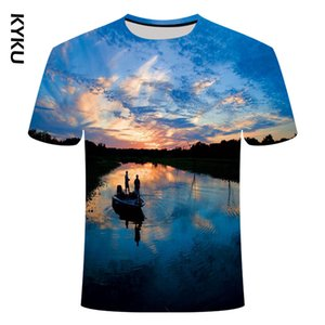 new fishing T-shirt style leisure digital fish 3D printing T-shirt for men and women T-shirt summer short sleeve o-neck to