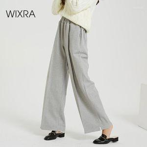 Wixra Pantaloni spessi Casual Wixra Nuovo 2020 Vita elastica Fashion Wide Gamba Pantaloni Elegante Pantaloni Cool Autunno Winter1