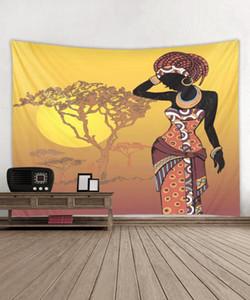Afrikanische Frauen Schwarze Wandteppiche Afroamerikaner Wandkunst Afrikanische Mädchen Kunstdruck Wand Dossen Dekorieren Zimmer