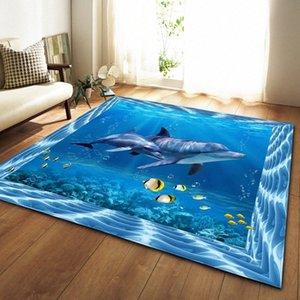 3D Tappeto Sea World Finsh Whale Tappeto Kids Room bambino salotto e camera da letto Tappeti Turtle Tappetino Cucina Home Decor aalj #