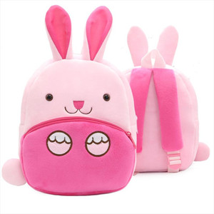 Children 3D Rabbit School Backpack Baby Kids Cute Animal Design Toys Bookbag Toddler Girls Boys Kindergarten Cartoon School Bags
