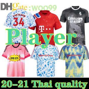 New Human Race Player Versione Real Madrid 2020 Manchester Fernandes Pogba United Soccer Jerseys 20 21 Bayern Arsena Pepe Football Jersey