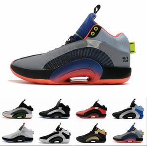 2020 Nouveaux Chaussures de basketball pour hommes 35S Eclipse Plate 2.0 Centre de gravité Fragment Zoom Jumpman 35 Hommes Sports Baskers Sneakers des Chaussures