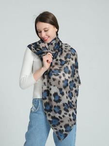 Leopard Print Scarf For Women Girls Soft Chiffon Shawl Winter Scarf Warm Long Wrap Stole Scarves Designer Fashion SF1289