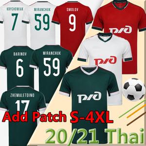 4XL 2020 2021 LOKOMOTIV Moscou Jersey Football Home Troisième Rouge 20 21 Miranchuk Zhemaletdinov Smolov Krychowiak Barinov Football Shirts Thaïlande