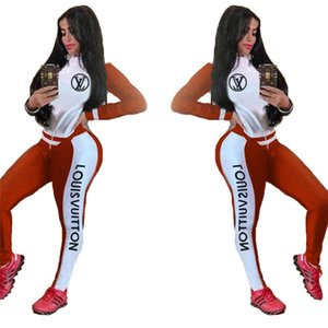 Women designer 2 pieces set clothes print hoodies pants outfits pullover Leggings sportswear s-2xl tracksuits fall winter jogging suits 4126