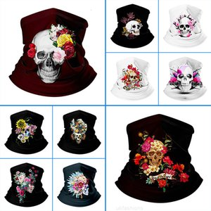 Cool Face Skull Cycling Mask Maschera di Halloween Sport Sport Sport Stampato Mask Bike Bicycle Riding Bandana Maschere Face Outdoor FM0803