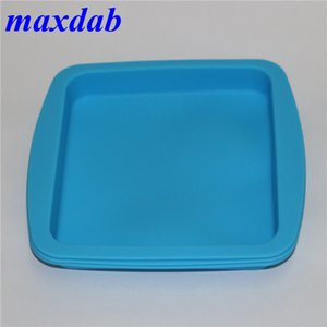 """New Colorful Silicone Deep Dish Container Tray Aprox 8""""x8"""" Nonstick Silicone Jars Dab Wax Oil Container"""