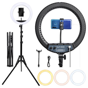 fosoto SLP-R300 Ring Light Photographic Color temperature 3200-5600K With Tripod Stand Makeup Camera Live Youtube Selfie C1002