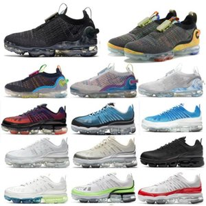 New 2020 Knit Running Shoes Men Women White Pure Dark Grey Mens Womens Trainers Sports Sneakers Size 36-46 Or Big Children Shoe HH9-3577