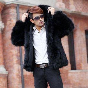 Men's Fur & Faux 2021 Winter Autumn Hooded Coat Men Jackets Casaco Thickening Warm Outwear Leisure Male Overcoats