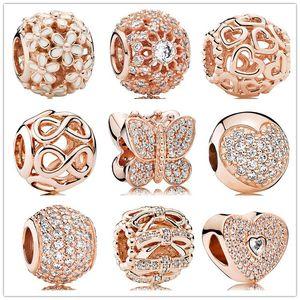 Authentique 925 Perles d'argent Veilles géométriques Gold Gold Slide Bead Charm Convient aux bracelets de bijoux de style Pandora européen Murano 791722nbs