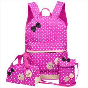 School Bags For Girls Kids Cute Printing School Backpack 3pcs set Children Schoolbags Fashion Orthopedic Girl Backpacks WBS485