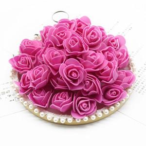 500 pièces Bubble Bubble Fleur Teddy Ours de Roses Foam Fake Home Décoration Accessoires De Mariage Fleurs Décoratives Couronnes Y0104