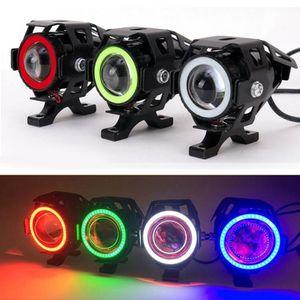 Yeni Sınırlı Promosyon U7 CREE 125 W Araba Motosiklet LED Sis Işık 4 Renk Daireler DRL Motosiklet Farları Sürüş Işıkları Spotlight Mot_20A