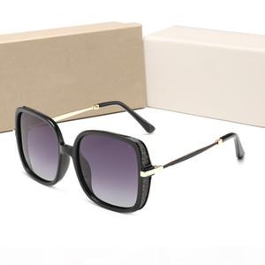 Inicio de lujo Qualtiy mujeres nuevas de la manera Gafas de sol redondas de metal de la vendimia Gafas de sol de la estrella de la alta calidad con la caja Estilo-GSH
