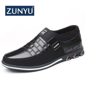 ZUNYU Plus Size 38-46 NEW Genuine Leather Men Casual Shoes Brand Mens Loafers Moccasins Breathable Slip on Driving Shoes 201008
