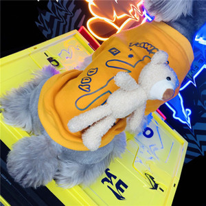 Fashion Reflective Hoodies With Bear Designer Dog Hoodies Autumn Pet Clothes chnauzer Pomeranian Cat Pet Clothing