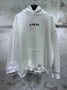 Vetements Stickerei Label-Sitiching Frauen Männer Hoodies Hiphop Männer Kapuzenshirt Pullover Vetements Maxi-Kanye West 201020
