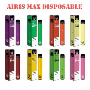 Kit initial Airis Max jetable Pod appareil 1600 Puff cartouches portable 950 mAh 5,6 ml Vape Memory Stick Pens Bar plus de débit XXL max 100% authentique