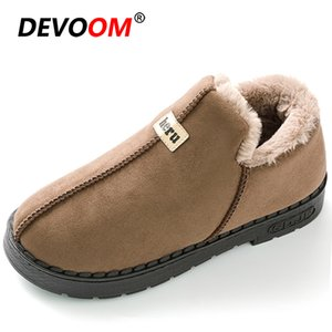 New Black Ankle Boots for Women Fashion Women Casual Snow Boots Warm Pulsh Winter Ladies Boots Slip on Cotton Shoes Big Size 41 201022