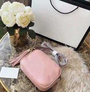 New Top cuccl qualitàNappa SOHO Disco sacchetti delle signore della nappa Litchi Profilo Donne Messenger Bag 308.364 con box
