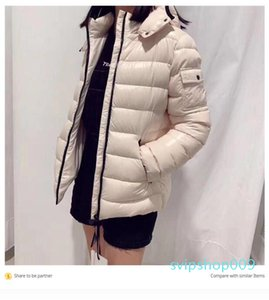 French brand ladies designer lightweight down jacket classic star with the same down jacket female short goose down thickened slim jacket si