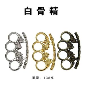 Iron Town crisis four rings self defense weapon tiger hand glove buckle children support ring fist boxing defense spare parts 0768