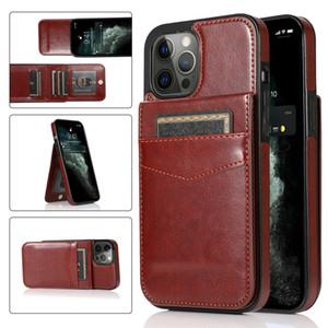 Étui de haute qualité en cuir de cuir PU pour iPhone 12 11 Pro Max XR 8 Samsung Note20 S20 Plus Ultra A11 A51 A71 A81 Huawei Mate 30 40 p30 P40