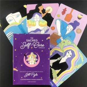 Nuovo Il Sacro Self Care Oracle Cards inglese Tarocchi Set 55pcs gioco da tavolo gioca per amico di famiglia festa Divertimento Poker yxlHeO