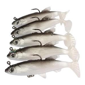 5 soft bait bars marine bait repair head lead jig fishtail bar fishing accessories for sea lure equipment