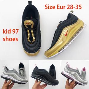 2020 Nike air max 97 kid running shoes airmax 97 Air Cushion Scarpe Bambini Giovani ragazze dei ragazzi dei bambini all'ingrosso esterno funzionare Scarpe Sneakers 28-35