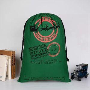 Christmas Sants Bag Canvas Candy Bag For Kids Gift Santa Claus Bag Christmas Gift Bags 38 Styles OOE2694