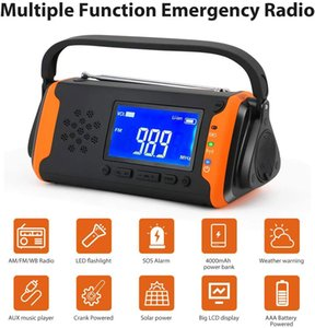 Guangzhou Juropin For Emergency Weather AM FM NOAA Portable Radio With Hand Crank Solar Super Bright Flashlight