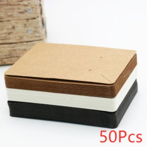 50pcs 6x9cm Earrings and Necklace Display Cards Cardboard Earring Package Hang Tag Card for Ear Studs Earring Necklaces