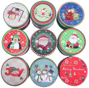 크리스마스 휴일 파티를위한 뚜껑 크리스마스 주석 선물 상자 금속 쿠키 상자 캔디 저장 용기 생 철판 선물 상자