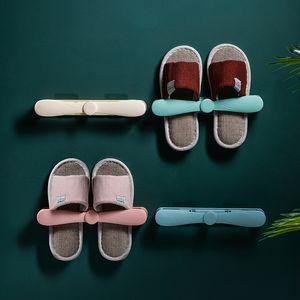 Yapışkan Asılı Stripler Ile Duvara Monte Ayakkabı Raf Plastik Tutucu Organizatör Ayakkabı Sandles Terlik Ev Ofis Banyo Depolama Raf