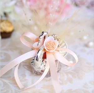 Upscale Acrylic Big Silver Swan Sweet Love Wedding Gift Candy Favor Boxes Baby Shower Party Favors Holder