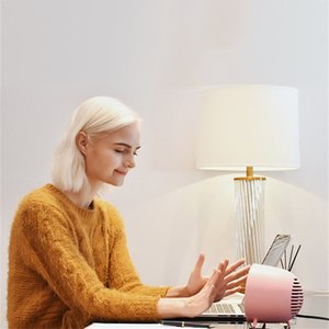 New Little Q Electric Heater Mini Fast Heating Desktop Hand Warmer 400W Mute Bedroom Winter Warmer White Pink Colors SEA SHIPPING HHE3812