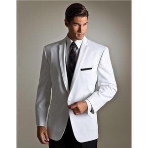 Chegada Nova Hot novo ajuste guarnição noivo cinza formais smoking entalhado lapela melhores homens blazers padrinhos ternos para casamento 3 peças terno