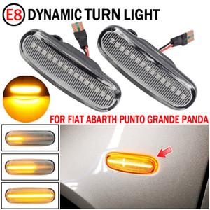 2x Dynamic Clear Led Led Marker Turn Signal Signal Lampe pour Fiat Panda Punto Evo Stilo Qubo Peugeot Citroën Lancia Musa (350)