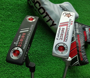 Golf bar putter Golf practice putter is black and silver